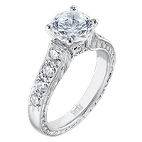 Scott Kay .40ct Vintage Pave Engagement RIng