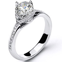 Simon G Twist Knot Engagement Ring Dr167