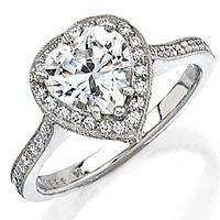 Stardust Heart Shaped Engagement Ring SDmr5hs-1