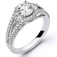 Simon G Split Shank Pave Engagement Ring LP2020