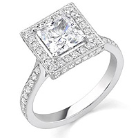 Stardust Micro Pave Engagement Ring MR64PR
