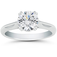 Vatche Solstice Solitaire Engagement Ring with Pave Accents