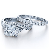Verragio Pave Set Criss Cross Engagement Ring 0379
