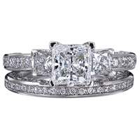 Verragio Pave Engagement Ring with Diamond Detail #3007