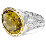 Tacori 18k925 Olive Quartz Ring