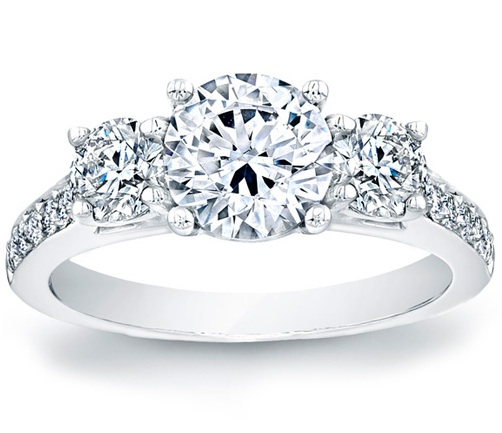 stone wedding a enr crown ring three brilliant platinum round gold engagment engagement rings pave in white