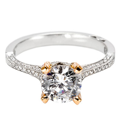 Tacori setting with Pave Pink Diamonds 2561PKRD7