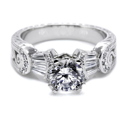 Tacori setting with Pave Accents HT2130