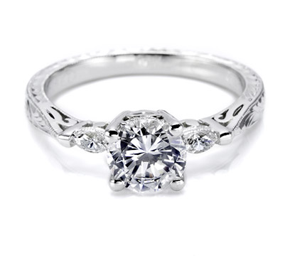 Tacori setting with Marquise set diamonds HT2198