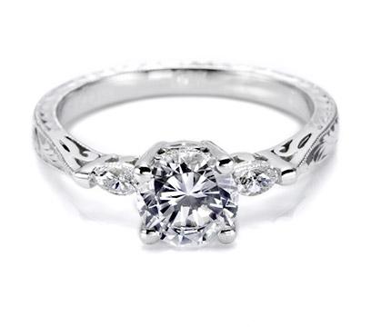 Tacori setting with Marquise set diamonds HT2198