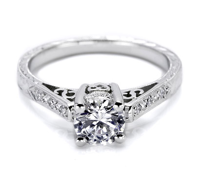 Tacori setting with pave diamond accents HT2202