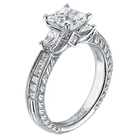 Scott Kay .87ct Vintage Style Princess Cut Setting