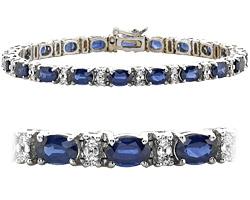 18k white Gold 13ct diamond & sapphire bracelet