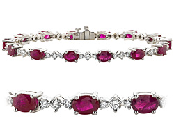 18k White Gold 10 85ct Diamond Ruby Bracelet