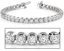 18k White Gold Diamond Tennis Bracelet-9.50ct