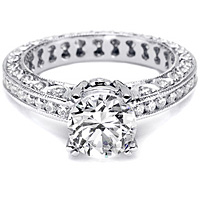 Tacori Channel-Set and Pave Diamond Setting