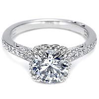 Tacori Setting with Pave Set Diamonds-.29ct