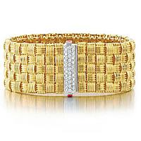 Roberto Coin Appassionata Yellow Gold Woven Bracelet