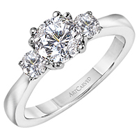 Artcarved Three Stone Solitaire Diamond Ring .33ct