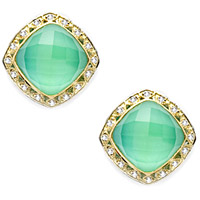 Tacori 18k925 Lemon Quartz &amp; Neolite Diamond Earrings