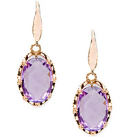 Rose Amethyst Drop Earrings