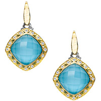 Neolite Turquoise and Diamond Earrings