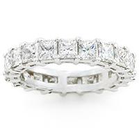 Platinum Princess Cut diamond Eternity Ring