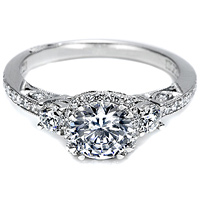 Tacori Setting w/ Pave Set Diamonds .50ct