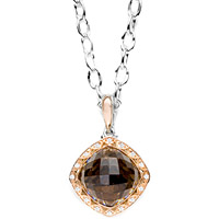 Tacori 18k925 Smokey Quartz & Diamond Pendant
