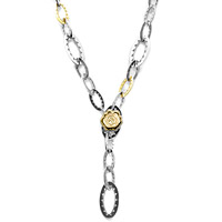 "Tacori 18k925 38"" Open Link Chain Necklace"