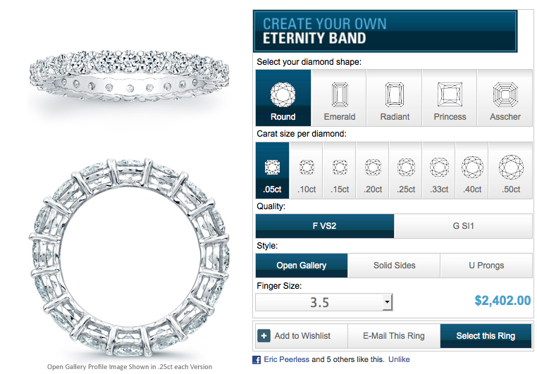 Custom Diamond Eternity Rings Builder