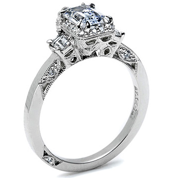 tacori 2621ec a beautiful emerald cut engagement ring