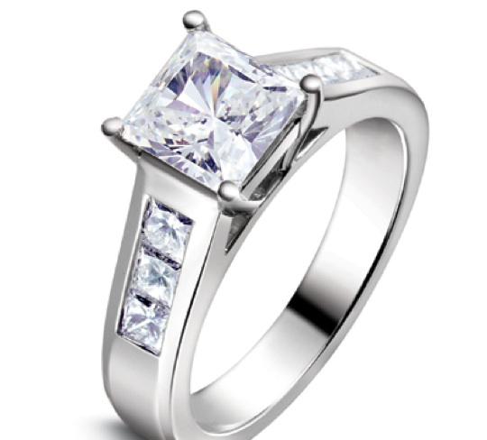 Lovely Modern Jeff Cooper 3146 Engagement Ring
