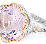 Tacori Rose Amethyst Diamond Ring