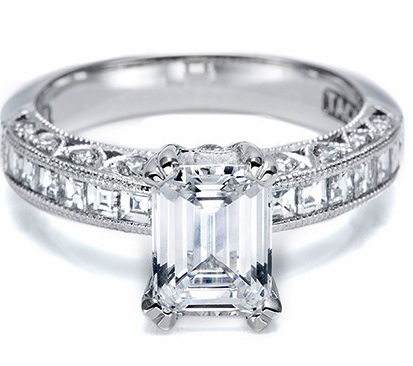 Emerald Cut Tacori Engagement Ring 2273
