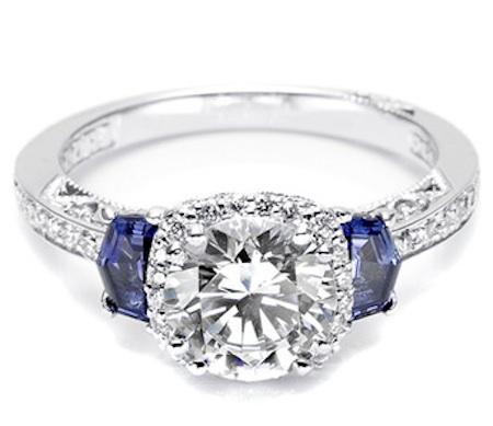 Sapphire Amp Diamond Tacori Engagement Ring 2628