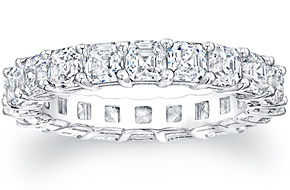 Asscher Cut Eternity Ring - 0.20ct