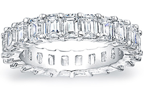 Emerald Cut Eternity Ring - 0.20ct