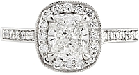 1.00ct GIA H/VVS2 Cushion Cut Diamond Engagement Ring