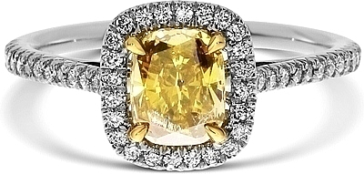 yellow diamonds deep lauren cushion ring itm by super a fancy diamond brownish vivid