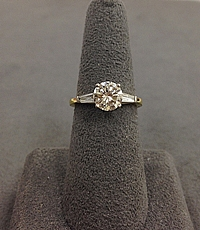 1.32ct N/SI1 Round Brilliant Cut Diamond Engagement Ring