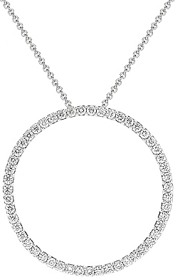133ct 18k white gold large diamond circle pendant no766605 mozeypictures Gallery