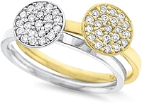14K Gold Stackable Diamond Circle Ring