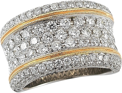 gold yellow d certified g band f ring twt three ct row pave diamond bands in