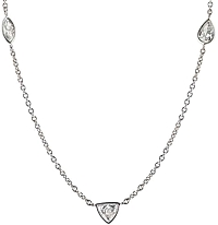 "14k White Gold 18"" Diamonds by the Yard"