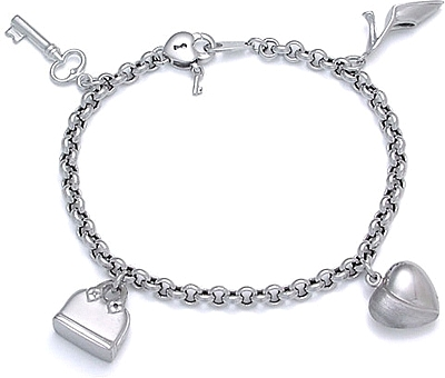 White Gold Bracelets Charms For