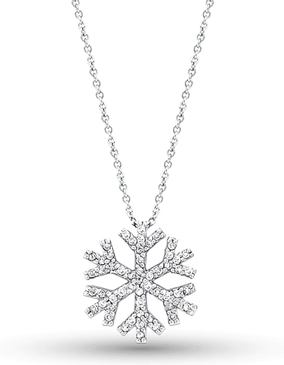 14k white gold diamond snowflake necklace kc n2094 mozeypictures Gallery