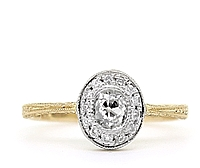 14k Yellow Gold Diamond Estate Ring
