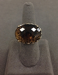 14k Yellow Gold Topaz Cocktail Ring