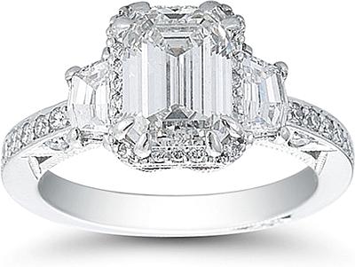 Wedding Bands Tacori 41 Epic Three stone diamond ring